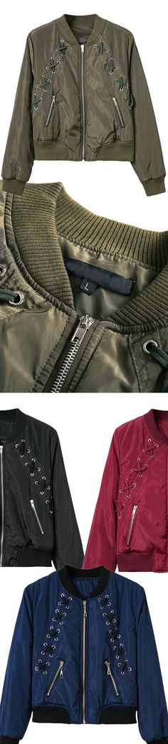 Everyone should have a piece of bomber jacket. So what can be more fascinating than having one of those green jacket. Differnet colors, differnet options.Come to mynystyle.com, find more styles.