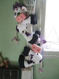 sostener cortinas - vacas