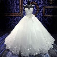 2016 High Quality Real Photoes Bling Bling Crystal Wedding Dresses Back Bandage Tulle Appliques Floor-Length Ball Gown Wedding Gowns