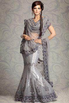 Stunning lehnga in silver