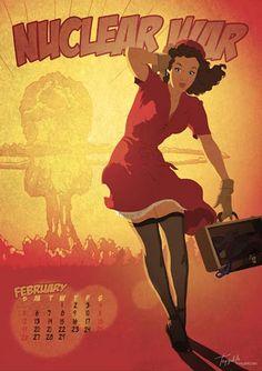 Calendario pin-up Apocalipsis 2012 | Blog Vecindad Gráfica Diseño Gráfico