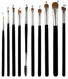 Eye Make-Up Brushes --Name and explanation of what each makeup brush does All Things Beauty, Beauty Make Up, Diy Beauty, Beauty Hacks, Beauty 101, Beauty Ideas, Skin Makeup, Makeup Brushes, Eye Brushes