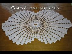 Centro de mesa en espiral part 1. / LanaTerapia- Crochet - YouTube