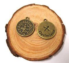 2pcs Bronze vintage style Zodian Sign Sagittarius by eSupply, $0.99