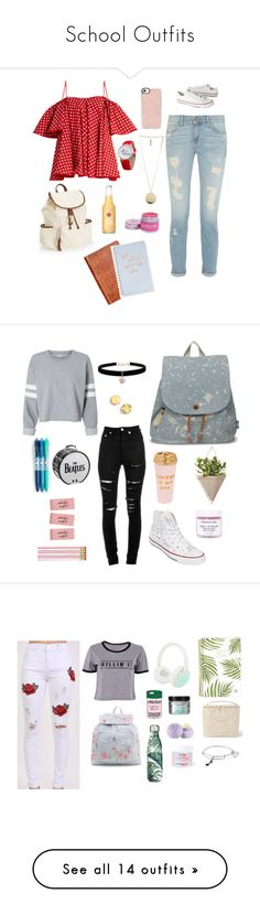 """""""School Outfits"""" by starry-eyed0310 ❤ liked on Polyvore featuring Casetify, Anna October, Converse, Aéropostale, Givenchy, Patricia Nash, Fringe, TOMS, Umbra and ban.do"""