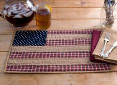 Patriotic Patch Placemats (Set of 2)
