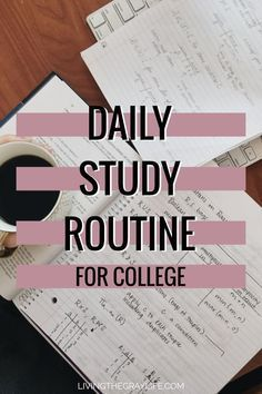 A Daily Study Routine Struggling to find ways to study in college? Looking to achieve better grades? Here is my daily study routine that helps me achieve As and Bs during my toughest year in college. College Life Hacks, College Classes, College Fun, Studying In College, College Tips, College Basketball, College Dorms, College School, Education College