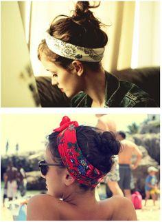 lenços no cabelo http://horadediva.blogspot.com.br/2014/02/truque-de-estilo-lencos-na-cabeca.html