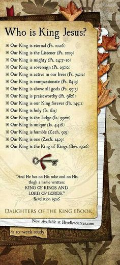 Who is King Jesus