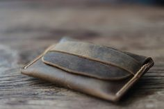 Christmas in July SALE - Best Unique Groomsmen Gifts -- Mens Distressed Leather Wallets!!! My kinda wallet