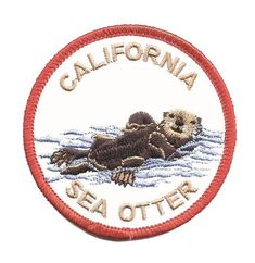 California Sea Otter Patch Iron on
