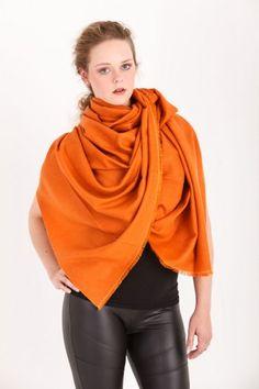 Exklusiver Pashmina Schal 100% Kaschmir in Hermesorange #orange #color #fashion