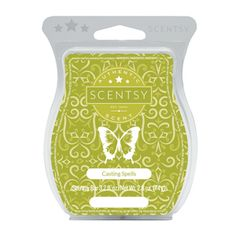 Casting Spells Scentsy Scent- a bewitching blend of apple drizzle, roasted pears and cinnamon bark — and you're all set for All Hallows' Eve! Available in a Scentsy Bar, Scent Circle and Room Spray- all at 10% off in September 2016.