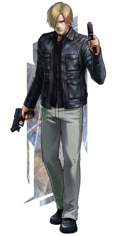 Leon Kennedy (Resident Evil) - Project X Zone 2 Brave New World Leon S Kennedy, Game Character Design, Character Development, Character Art, Resident Evil Anime, Japanese Video Games, Zeref, Fantasy Art Men, Video Game Characters