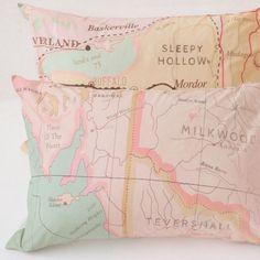 Vintage Maps Pillowcase Set