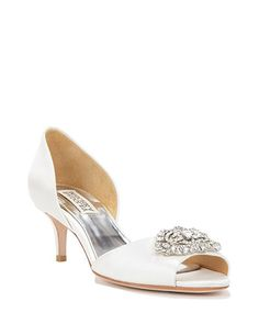 Badgley Mischka Petrina D'orsay Embellished Toe Evening Shoe, now available at the official website. Free shipping, exchanges, and returns.