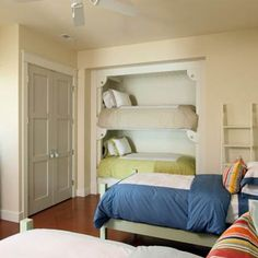 Camas literas en armarios