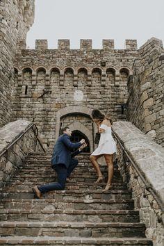 Castle Proposal at Castello di Amorosa in Napa, CA   San Francisco Bay Area California Wedding and Engagement Photography   lynnchanglewis.com