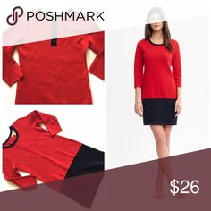 """Banana Republic colorblock sweater dress Item: Banana Republic colorblock sweater shift dress in red and navy. So beautiful. 🔸 Size: XS fits S also 🔸 Measurements: bust 18""""across length 35"""" Banana Republic Dresses Mini"""