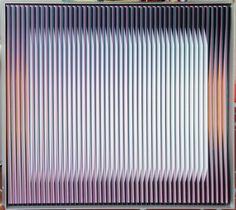 Carlos Cruz Diez, Pysyochromie 1301, tecnica mista su tavola, cm. 50x65x4