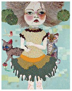 Del Kathryn Barton- one of my fav artists! her work is the most amazing sight in real life!