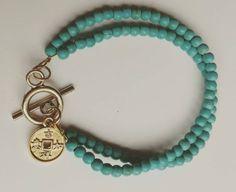 Bekijk dit items in mijn Etsy shop https://www.etsy.com/nl/listing/258960738/mooie-dubbele-armband-van-howliet-kralen