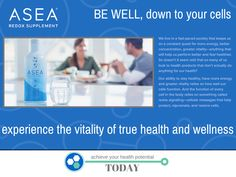 #ASEA .. One of a kind product that is changing the health and wellness industry as we know it! www.newhealth4u.net #ASEA
