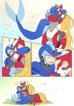 Megaman X: Imagenes - ZeroX: Comic - 1 - Wattpad Mega Man, Megaman Zero, Megaman Series, Art Diary, Lovey Dovey, Anime Angel, Disney Characters, Fictional Characters, Wattpad