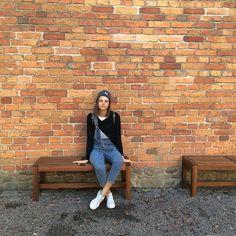 Monki Overall, American Vintage Knit, Carhartt Beanie, Adidas Sneaks