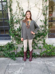 Pomp and Circumstance Boutique - PIKO Tee - Army  BACK IN STOCK + FREE SHIPPING!