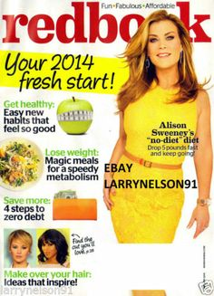 REDBOOK MAGAZINE JANUARY 2014 ALISON SWEENEY THE SKIRT THAT IS BETTER THEN SPANX