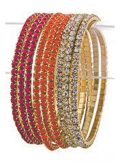 Shimmering Coral Bracelet Set