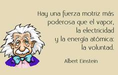 Albert Einstein y el poder de la voluntad #citas