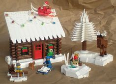 Here is my entry for the Expand the Winter Village contest. It was a lot of fun to make. Lego Christmas Sets, Lego Christmas Village, Lego Winter Village, Lego Village, Christmas Fun, Lego Duplo, Lego Moc, Lego Sets, Legos