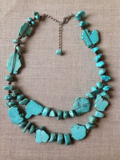 Turquoise statement necklace by Design2H on Etsy https://www.etsy.com/listing/261720837/turquoise-statement-necklace