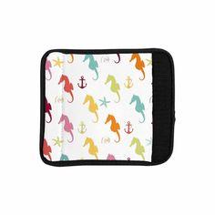 "afe images ""Colorful Seahorse Pattern"" Orange Yellow Illustration Luggage Handle Wrap from KESS InHouse"