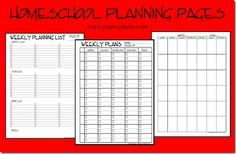 Free Homeschool Planning Pages - Visit Mama Jenn for these Free Homeschool Planning Pages.