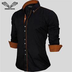 European Size Men's Shirt  Solid Color