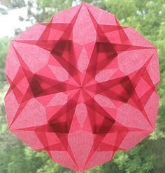 Red 6 Pointed Waldorf Window Star  by harvestmoonbyhand on Etsy, $10.00