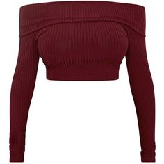 Shape Chastity Burgundy Ribbed Bardot Top ❤ liked on Polyvore featuring tops, crop top, shirts, rib top, crop shirt, burgundy shirt, cut-out crop tops and burgundy crop top