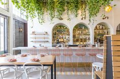 The Long-Awaited Middle Eastern Restaurant from the Bestia Team Opens in LA Today Middle Eastern Decor, Middle Eastern Restaurant, Dining Stools, Bar Chairs, Office Chairs, Restaurant Chairs, Restaurant Design, Restaurant Ideas, Weekend In Los Angeles