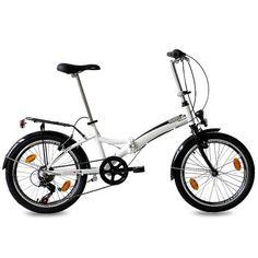 20″ FOLDING BIKE ALLOY CITY BIKE FOLDO 6 speed SHIMANO Unisex white (w) – (20 inch)