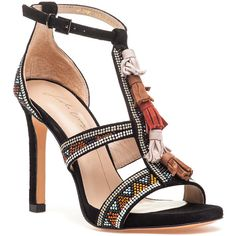 LOLA CRUZ 307z04bk Sandal Black Suede (160 AUD) ❤ liked on Polyvore featuring shoes, sandals, black suede, suede sandals, high heel platform sandals, black sandals, platform sandals and black suede shoes