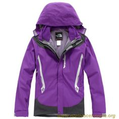 Discounts Women The North Face Outlet Gore Tex Jacket Purple Outlet TNF3105