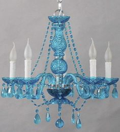 Small Murano Glass Chandelier With Bead & Crystal - Murano Style ...