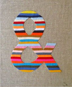 Embroidered Ampersand