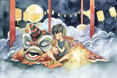 Currently browsing Mid Autumn for your design inspiration Autumn Illustration, Watercolor Illustration, Watercolor Art, Lion Dance, Drawing Sketches, Drawings, Mid Autumn Festival, Fantasy Character Design, Autumn Art