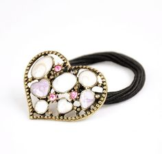 Korean Style Vintage Heart Ponytail Holder