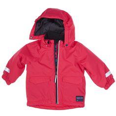 Polarn O. Pyret Colourful Baby Coat. Winter coat, waterproof, toddler fashion, baby coats.