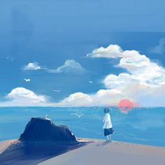 Digimon, Ideas Geniales, Environment Concept Art, Fantasy Landscape, Anime Scenery, Cute Illustration, Art World, Amazing Art, Amazing Quotes
